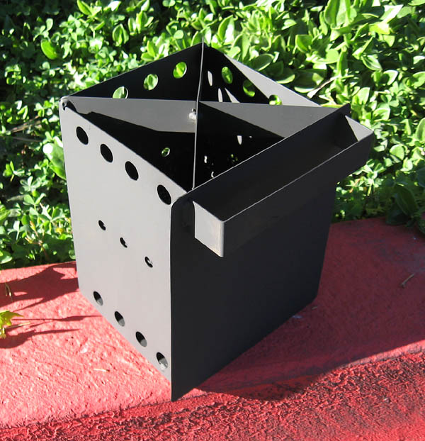 Click for closer view of prototype Wood Pellet Camp Stove